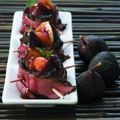 Pastrami-wrapped Stuffed Figs- So sophisticated! #kosher | www.kosher.com