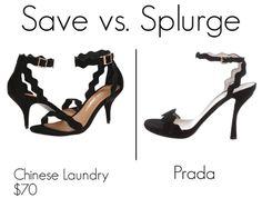 Save vs. Splurge: Prada scallop sandal