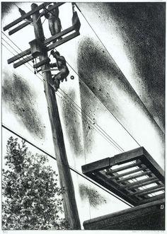 Louis Lozowick - Emergency Job (1942)