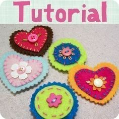 FELT HAIR CLIP TUTORIAL w/ TEMPLATES hairclips you by craftpudding, $8.00