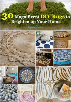30 Magnificent DIY Rugs to Brighten up Your Home.. Brilliant projects!