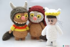 Max where the wild things are amigurumi pattern by ahooka Follow the links to all three patterns!