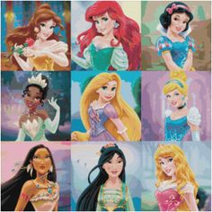 Cross Stitch Pattern Disney PRINCESS 8 PDF by SUNSHINEYDAY0630, $4.00