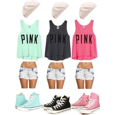 Matching Bff Outfits O: by dramaticunicorn on Polyvore featuring Victoria's Secret, Converse and Forever New