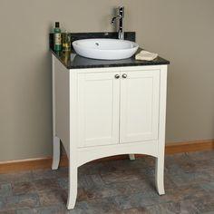 "24"" Cadmon Vanity - Cabinet Only - Creamy White"