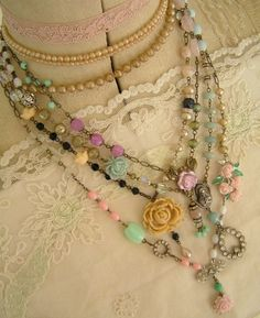 Vintage beads from Velvet Strawberries