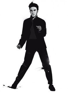 """Elvis Presley Más conocido como el """"EL REY DEL ROCK AND ROLL"""" o simplemente """"EL REY""""."""