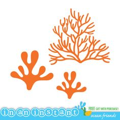 Coral Vinyl Wall Decal for an Under the Sea or Ocean Nursery, Kids, Childrens Room. $15.00, via Etsy.
