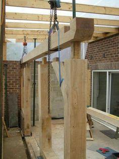 Green Oak Frame Orangerie conservatory (Very pic heavy) - Woodwork UK Porch Timber, Timber Cabin, Timber Frame Garage, Timber Frame Homes, Timber Frames, Roof Design, House Design, Oak Framed Extensions, Cordwood Homes