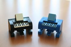#Lego #Pianos I dig these cool mini pianos