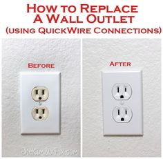 How to replace electrical outlets using QuickWire (Push-In) Connectors | The Kim Six Fix