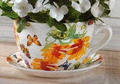 Tea Cup Planter... Butterfly $42.00