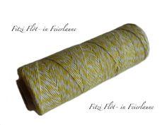 Bäcker-Garn Bakers Twine gelb von Fitzi Flöt auf DaWanda.com