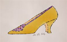 "Andy Warhol, 1955. ""Shoe fly baby."""