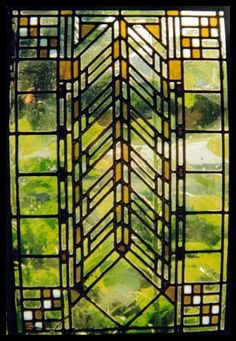 Frank Loyd Wright famous Wheat Motif - Frank Loyd Wright incorporated stained glass windows/doors into his spaces...why? For the MAGIC! The play of light! The energy it gives you! The beauty it brings to your soul!