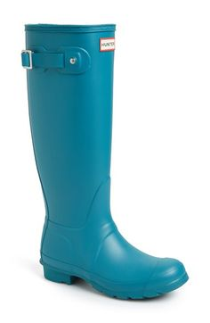 Free shipping and returns on Hunter 'Original Tall' Rain Boot (Women) at Nordstrom.com. A classic finish perfects a puddle-proof rubber boot finished with a traction-gripping sole. Subtle tonal motifs circle the shaft, while an adjustable buckle at the side adds interest.