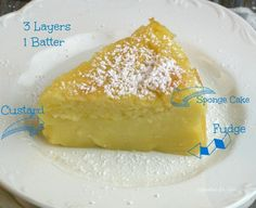 Magic cake has 3 layers of yummy goodness, sponge cake, custard, and fudge. The great thing about this cake is you only need a few ingredients.