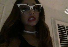 Ariana Grande Glasses Hair