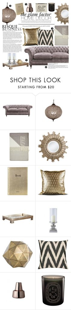"""""""the glam factor home decor"""" by lux-life ❤ liked on Polyvore featuring interior, interiors, interior design, home, home decor, interior decorating, Ethan Allen, Harrods, Fendi Casa and Worlds Away"""