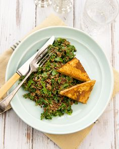 quinoa & kale w/ baked ginger tofu | vegan + gluten-free