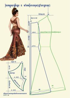 Dress pattern back Barbie Clothes, Sewing Clothes, Diy Clothes, Dress Sewing Patterns, Clothing Patterns, Doll Clothes Patterns, Fashion Sewing, Diy Fashion, Womens Fashion