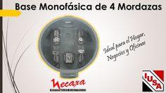 Base de medición monofásica de 4 mordazas. Ideal para el Hogar, Oficinas y Negocios. Visítanos www.menecaxa.com.mx