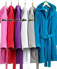 Boring Bathroom? Brighten up with color! LACOSTE #bath #robe BUY NOW!