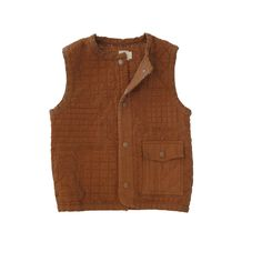 Taos Quilted Vest - Brick #niconicoclothing