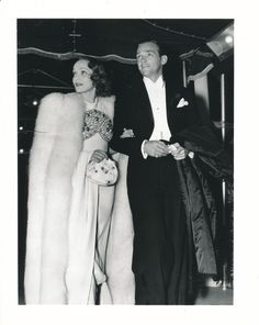 With Douglas Fairbanks Junior in 1936