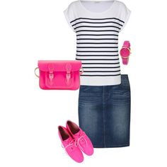 A fashion look from February 2013 featuring relax t shirt, print skirt and pink leather flats. Browse and shop related looks.