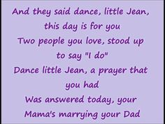 Johnny loved this song.  He's the one who told me about it.  It was hard for him to talk about it without getting choked up.  Hard for me, too.  Dance Little Jean with Lyrics-- Nitty Gritty Dirt Band