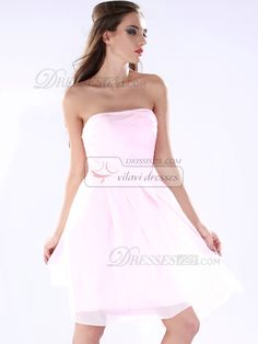 High Couture Beautiful A-line Chiffon Tube Top Short/Mini Cocktail/Sweet 16 Dresses [42SODBCH655] - US $107.00 : VILAVI Dresses