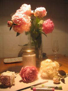 spring in my home...peony work in progress..