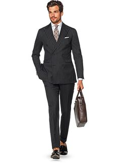 Bought this today! Suit Grey Stripe Soho P5115i | Suitsupply Online Store