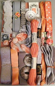 love the grey and orange - never have put it together but it's good .