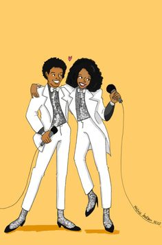 Michael Jackson & Diana Ross.