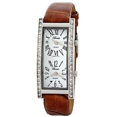 Breda Womens 2185_brown Brown Nicola Dual Time Zone Classic Leather Watch