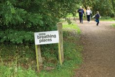 BBC Breathing Places event signage by Red Stone
