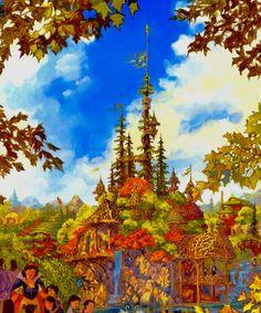 Castle concept for Disney's Enchanted Forest concept (never built) - John Horny