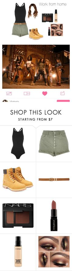 """""""Work from Home video w/ 5H"""" by carpenterswife ❤ liked on Polyvore featuring Oscar de la Renta, River Island, Timberland, M&Co, NARS Cosmetics, Smashbox and MAC Cosmetics"""