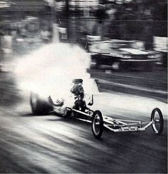 Vintage Drag Racing - Dragster - Explosion at Lions Drag Strip