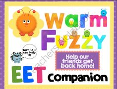 EET Companion - Warm Fuzzy from SLPrunner on TeachersNotebook.com -  (15 pages)  - Help these adorable warm fuzzies find their way home! This Expanding Expression Companion is fun and functional with writing and data pages.