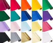 Plastic Banquet Party Table Cover Roll - 300 Feet Long - Available in 20 Colors!