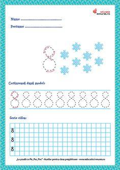 Set de fișe de lucru cu exerciții de scriere corectă a cifrelor ( 1-9) și numărul 10. se pot descărca gratuit în format PDF pentru print. Numbers Preschool, Preschool Learning Activities, Diagram, Teaching, Education, Math, Ely, Gabriel, Dental
