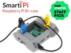 A super versatile and fun Raspberry Pi B+ and camera case. Compatible with Legos® and GoPro® mounts.