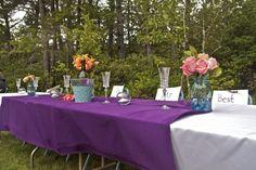 The bride/groom/best man/ maid of honor table