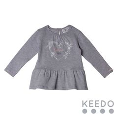 Peplum tee - cute frill detail on this cotton t-shirt will make it a favourite this winter Winter Sky, Blush Color, Accent Colors, No Frills, Tees, Shirts, Kids Outfits, Peplum, Tunic Tops