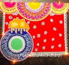 Rangoli Borders, Rangoli Border Designs, Rangoli Designs, Mandala Drawing, Mandala Art, Happy Pongal, Madhubani Art, Mandala Coloring, Mandala Design