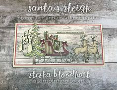 Welcome to Global Design Project GDP 115 Theme Challenge - Christmas Joy! A Rustic Themed Christmas Card using Santa's Sleigh by Stampin' Up!