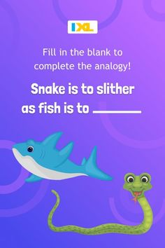 Analogies are a way of comparing two pairs of concepts. Solve this analogy #WordPuzzle involving two scaly friends! Linking Words, Foreign Words, Time Order Words, Author's Tone, Common And Proper Nouns, Similes And Metaphors, Prepositional Phrases, Nouns And Adjectives, Word Patterns